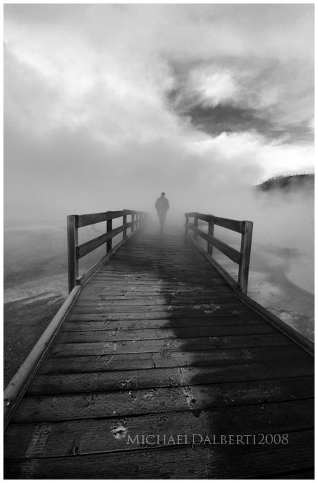 Foggy Path by Micheal Dalberti