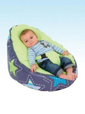 Doomoo Seat Patchwork Lime | Nursery Furniture | Baby Accessories Ireland | Cribs.ie