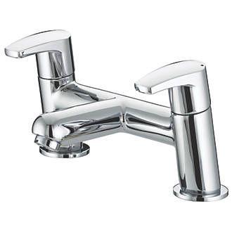 Bristan Orta Dual Lever Bath Filler Tap | Bath Taps | Screwfix.com