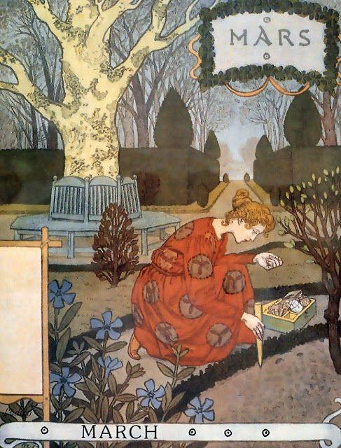 La Belle Jardiniere – March 1896   Eugène Grasset via WikiArt.org