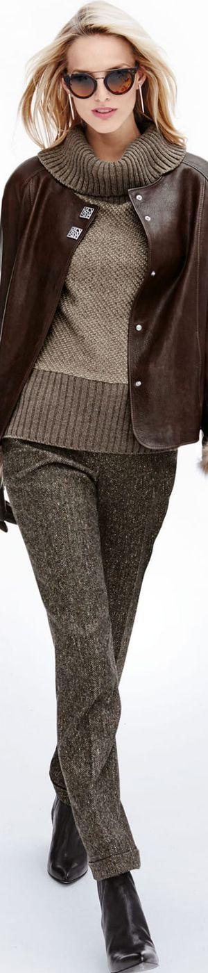 Madeleine Brown Leather Jacket