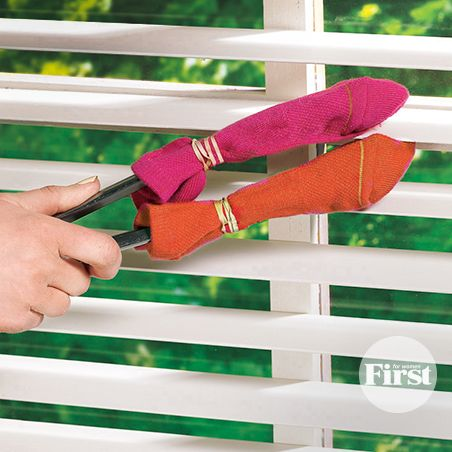 We're spring cleaning this weekend—and we're definitely trying this clever strategy to get our mini blinds sparkling. (We wish we'd known this years ago!)