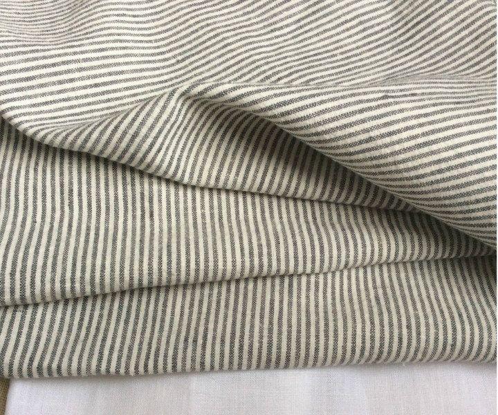New to CustomLinensHandmade on Etsy: Grey White Ticking Stripe Duvet Cover set twin size ready to ship. (167.00 USD)