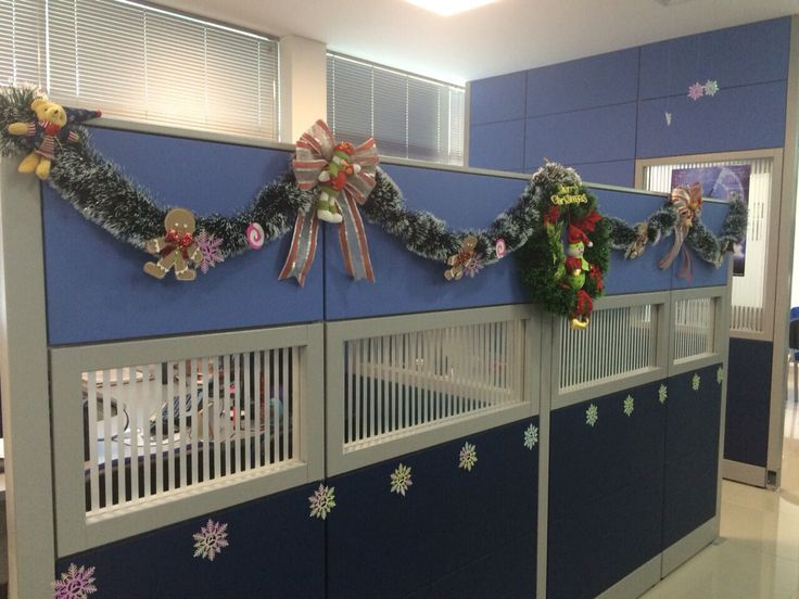 Decoraci n navide a para oficina decoraci n de c biculos - Decoracion navidena para oficinas ...