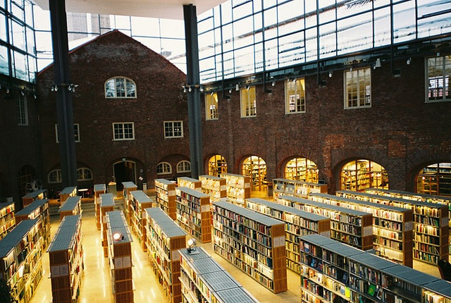 KTH Library in Stockholm, Sweden / photo by Tianchu Duan