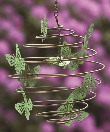 This Butterflies Hanging Spiral Outdoor Accent by Ancient Graffiti is perfect! #zulilyfinds