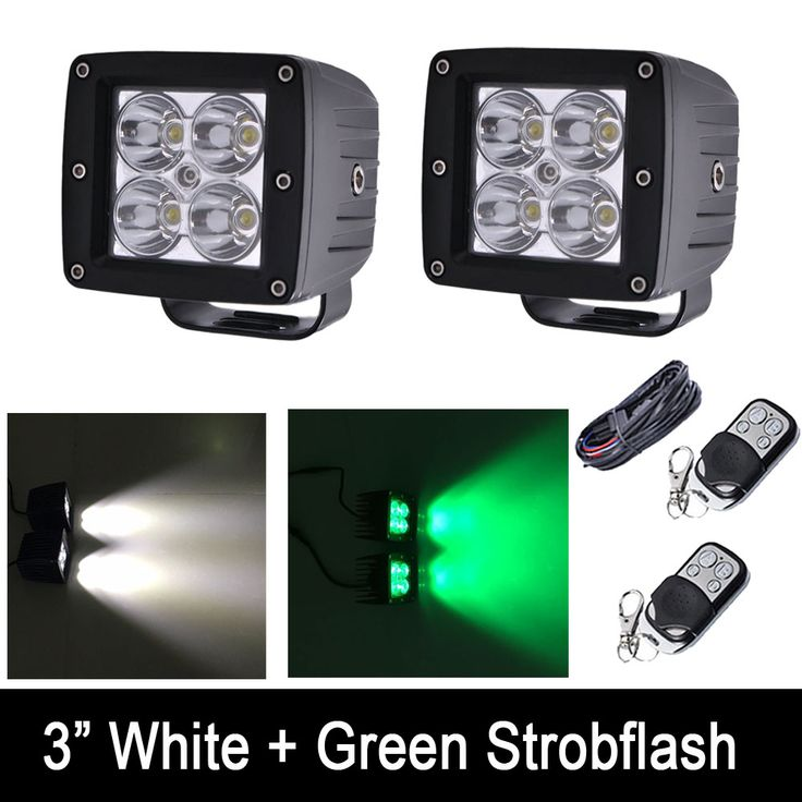 "==> [Free Shipping] Buy Best 24W White /Green Color Strobeflash LED Work Light Bar 3X3"" Cube Pods Offroad Spot Flood Fog Lamp for Offroad 4x4 JEEP SUV ATV Online with LOWEST Price 