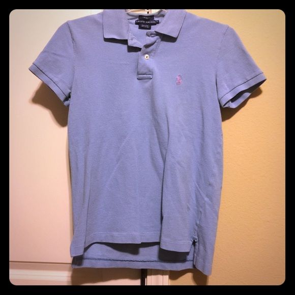 BOGO 75% POLO SALE! Light Blue Ralph Lauren Polo BOGO 75% OFF POLO SALE! Buy any Ralph Lauren Polo item in my closet, and get 1 (of equal or lesser value) 75% off!! Please comment for each item and I will create a custom listing for you! My bundling discount is NOT available for this item unless you are bundling with an item that is not the RL brand!* This is a Light blue classic fit Women's Ralph Lauren Polo; size S. Gently worn and in excellent condition! No noticeable flaws (no holes…