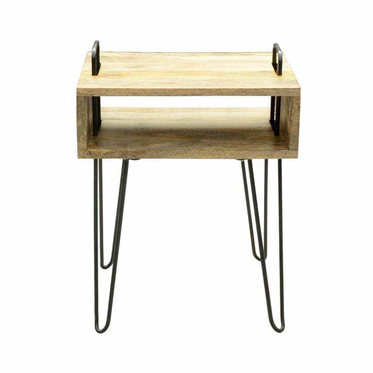 ablagetisch aus mangobaum massivholz stahl jetzt bestellen unter. Black Bedroom Furniture Sets. Home Design Ideas