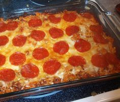 Pizza pasta bake ~ 6 Weight Watchers points. Sounds like something the kids would really like!