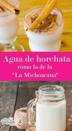 Receta de agua de horchata de la michoacana | CocinaDelirante