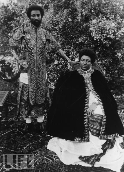 Emperor Haile Selassie & Empress Menen in Life Magazine