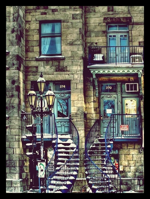 Beautiful architecture - outside steps diverging