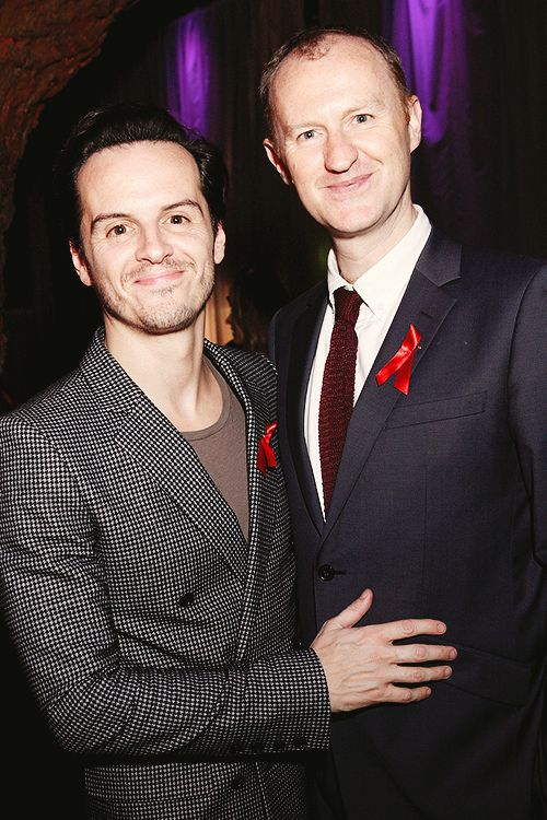 Mark #Gatiss and Andrew #Scott , attending The Terrance Higgins Supper Club, October 8, 2014