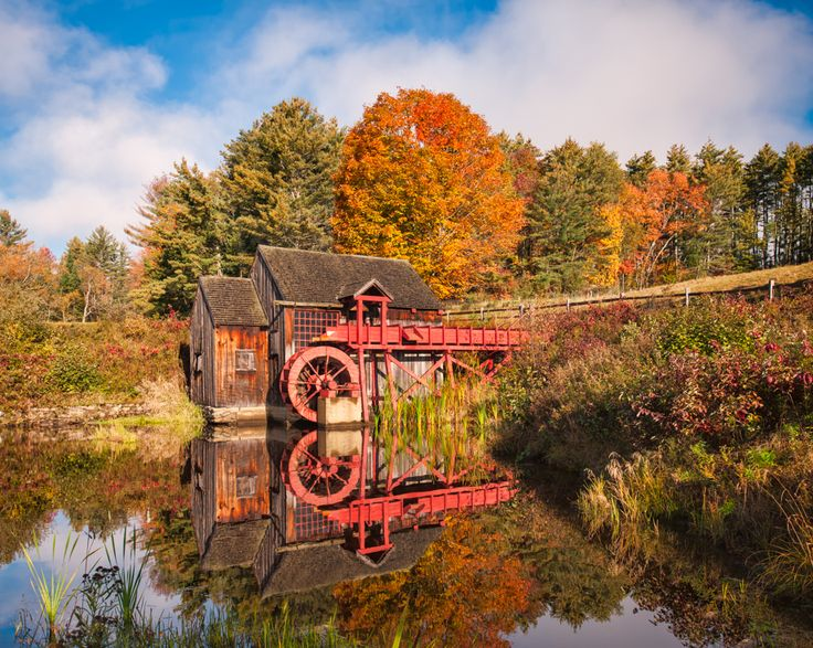 Vermont Fall Farm Wallpaper The Old Guildhall Grist Mill Northeast Kingdom Vt Gps