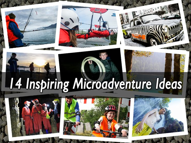 14 Inspiring Ideas for Micro Adventures. You don't need to go far, spend much or have loads of time for a microadventure. Here's 14 ways to squeeze one in.