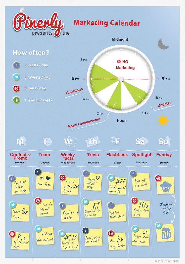 Marketing Calendar. Niecely done!