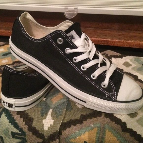 Converse | New Low-top Sneakers New! Never worn! Black converse with white toe. Perfect condition! No box. Men's 8 or Ladies 10. Converse Shoes Sneakers