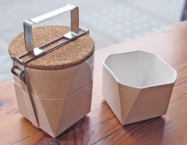What a great lunch container! Can be displayed when not in use.: Lorea Sinclair, Tiffin Lunches, Packs Lunches, Interiors Design, Lunches Boxes, Bento, Ceramics, Lunches Kits, Lunchbox