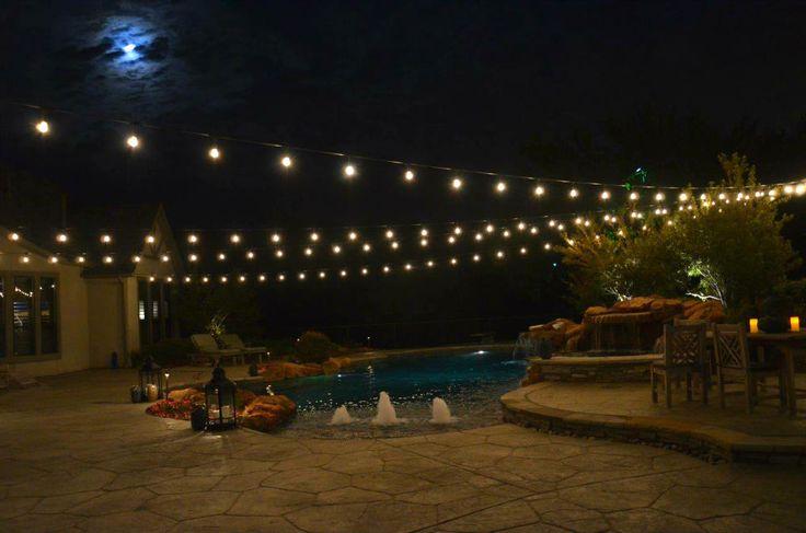 Landscape Lighting Estimates : Images about string party lights installation by dallas landscape lighting on