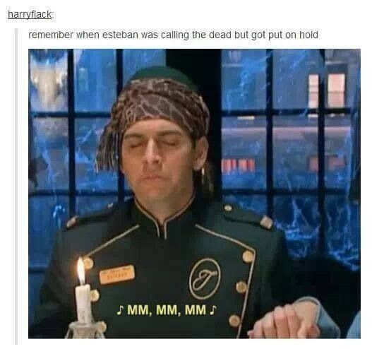 Esteban got put on hold on the Suite Life of Zack and Cody; ghost humor