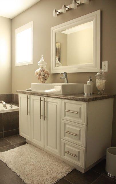 Best 25 beige bathroom ideas on pinterest for Grey and beige bathroom ideas