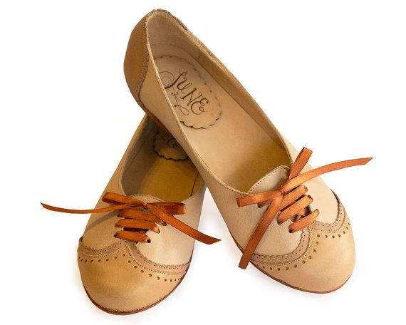 Free shipping*** Oxford in brown Leather shoes. Woman shoes. Handmade in Argentina. Quiero June