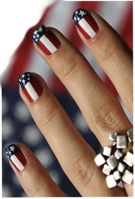 July 4th nails [ Thesterlinghut.com ] #holiday #personalized #sterling