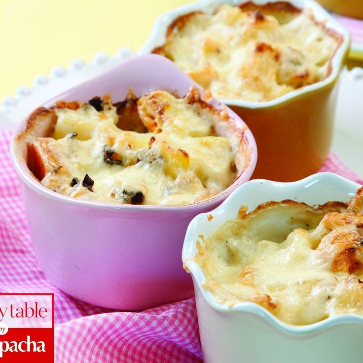 A twist on scalloped potatoes, this more contemporary version works well for dinner parties, especially if you use ramekins or individual baking dishes.