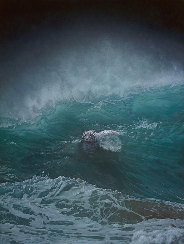 "Joel Rea's ""Beasts of Arcadia"" Portrays Natural Beauty and Danger #Art #ContemporaryArt #Surrealism"