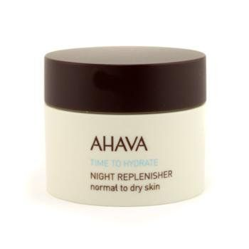 Time To Hydrate Night Replenisher (Normal to Dry Skin) by Ahava - Time To Hydrate - Night Care. $47.99. 50ml/1.7oz. Formulated with active Dead Sea minerals to improve skins well-being Maximizes cell metabolism & consolidates skin against UV damage Revitalizes skin with natural hydration when at rest Skin appears softer & younger looking Ideal for normal to dry skin & safe for sensitive skin Allergy tested paraben-free