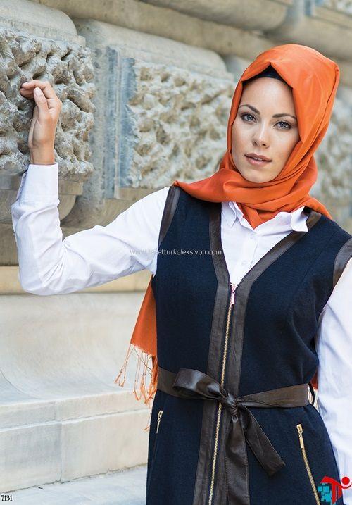 Deri Detaylı Yelek Nihle | Kayra | Armine | Setrms | Aker | Alvina