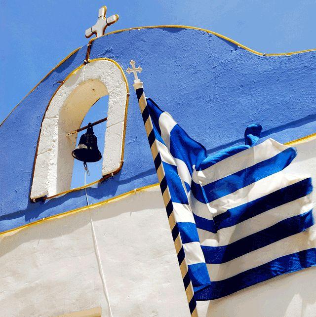 Greek Flag: #Kasterlorizo Island, #Greece (Also #Castelorizo or #Megisti) the easternmost #Greek Island Source: Official Tourism Site http://www.megisti.gr