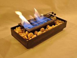 Chimenea caja para mesa, calienta hasta 20 m2. athosmuebles.com