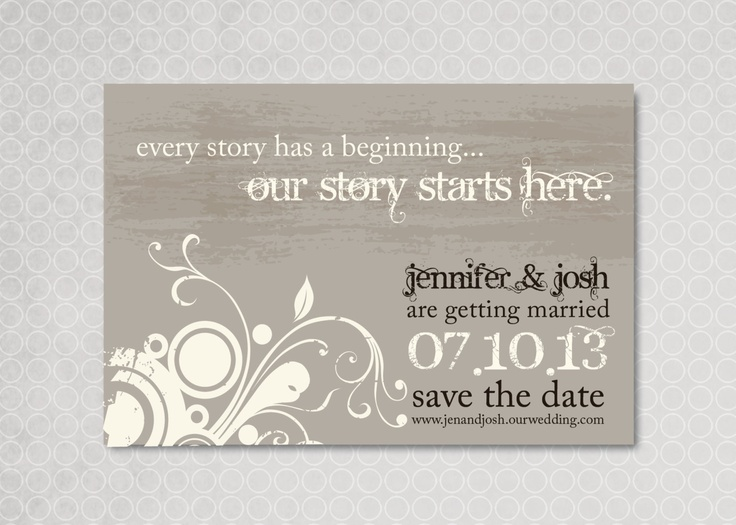 Whimsical Save the Date Magnet - Every Story. $15.00, via Etsy.