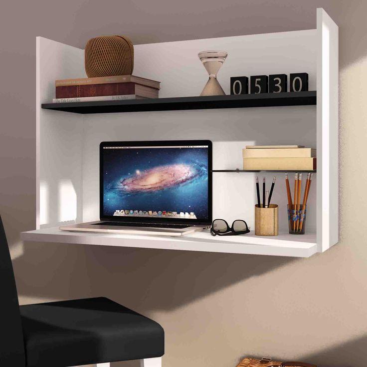 Pouco espaço não é desculpa para não ter conforto na hora de estudar e trabalhar. Essa escrivaninha suspensa é ótima opção.