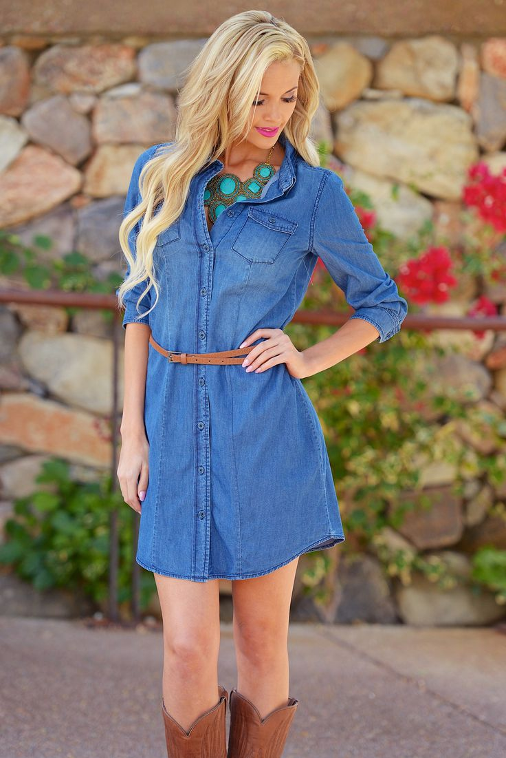 **10% OFF with code REPLAUREN at checkout + free, fast US shipping** || Born in The USA Denim Dress from Closet Candy Boutique