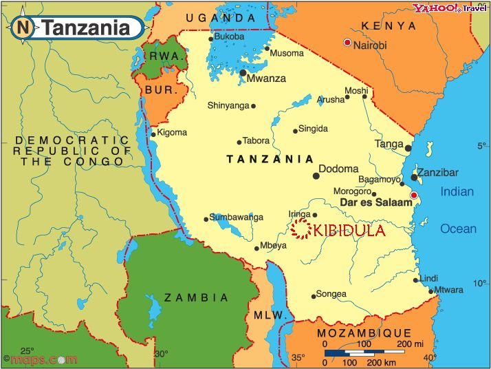 Tanzania Atlas Maps and Online Resources Infopleasecom Africa