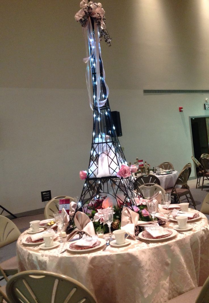 Amazing Christmas centerpiece, Paris inspired, Eiffel Tower, Angels, LED lighting, by Maureen deBruyn