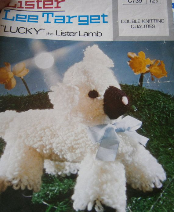 vintage larry lamb crochet pattern by ANGELSTITCHING on Etsy