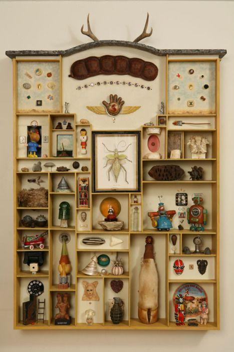 I love me a cabinet of curiosities     mainsail:    Wunderkammer (via Jere Smith: Wunderkammer)