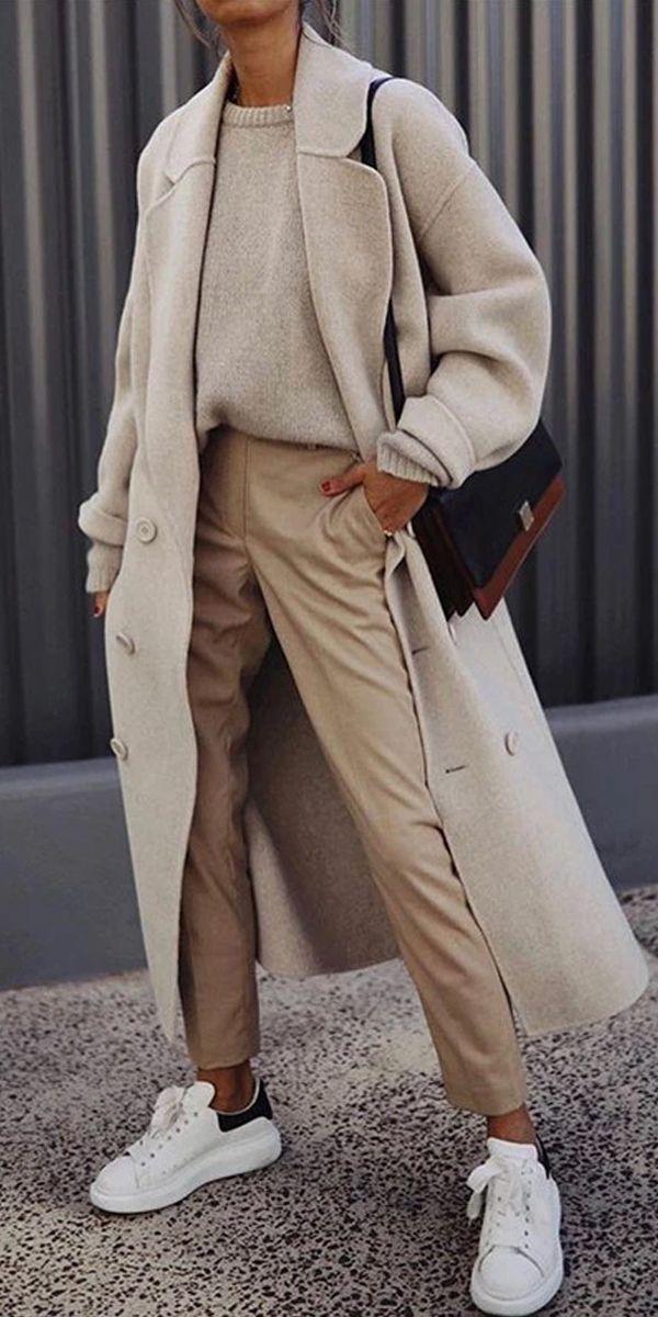 British Style Fashion Flip Collar Long Sleeve Coats