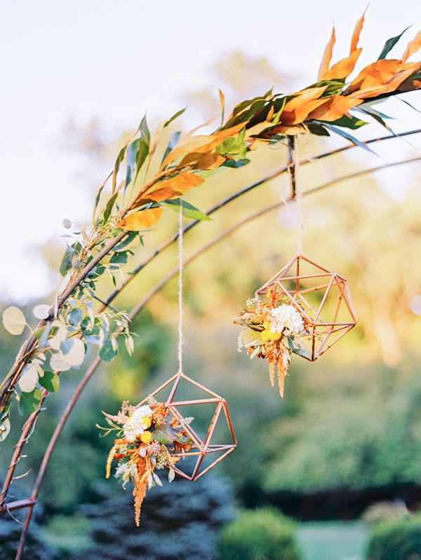 geometric wedding details - photo by Love by Serena http://ruffledblog.com/copper-and-slate-autumn-inspiration-shoot