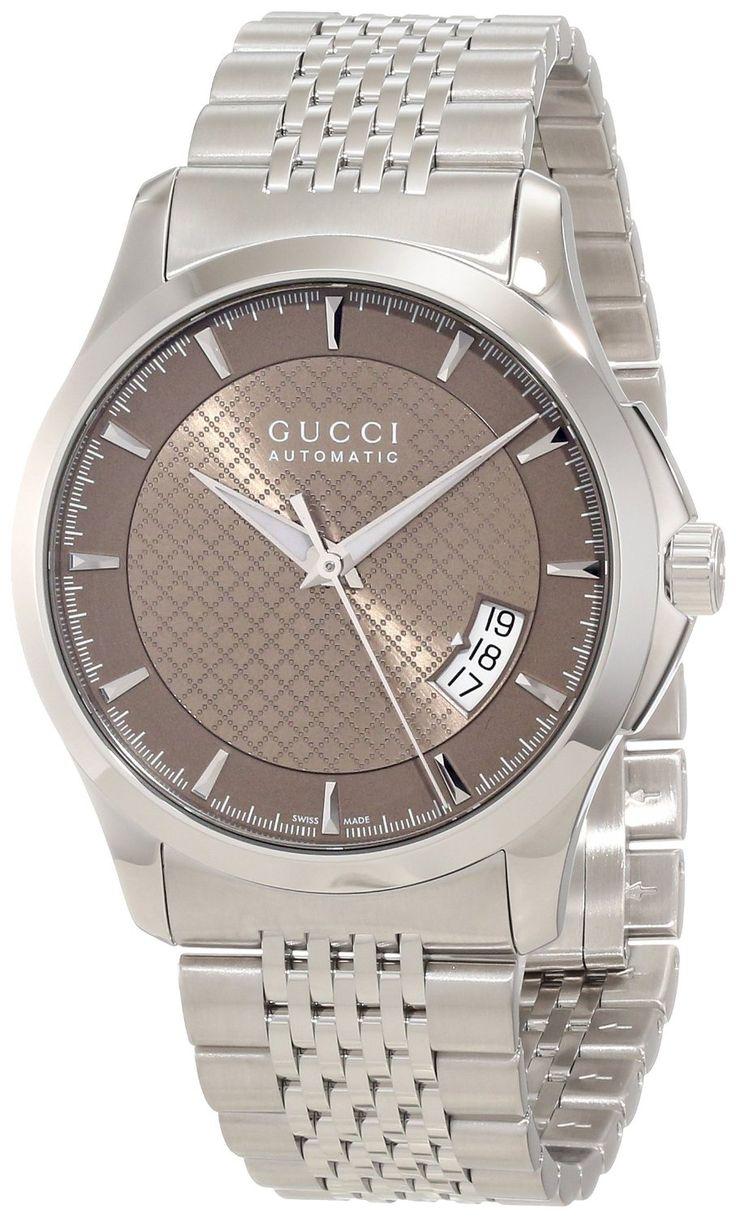 Gucci Watch , Gucci Men's YA126412 Gucci Timeless Brown Diamond Pattern Dial Watch