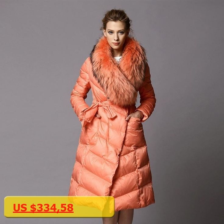 Luxury Real Fur Collar 2017 Ladies Long Winter Coat Cloak Women Ultra Elegant Large Size Womens Parka Puffer Coats Jackets