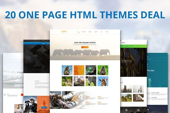 Check out 20 One Page HTML Themes Deal by IceTemplates on Creative Market