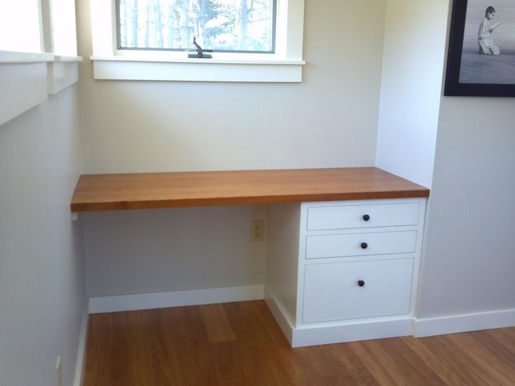 Built-in desk - contemporary - desks - portland maine - Blue Spruce Joinery