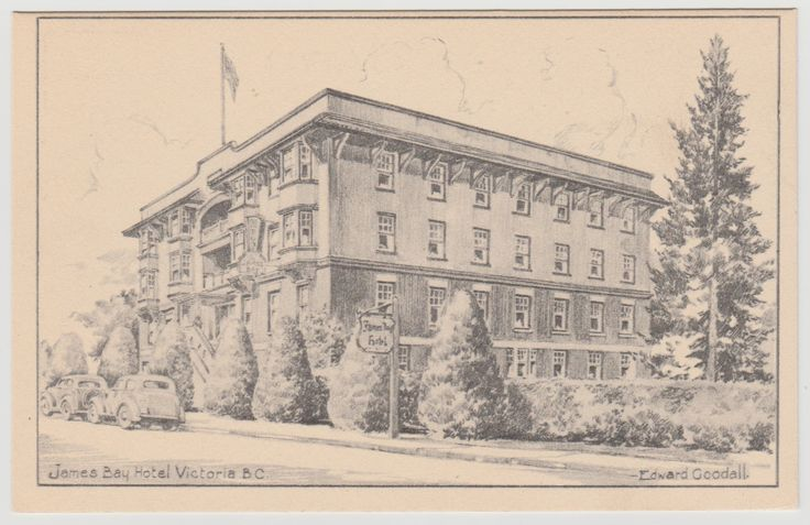 VICTORIA, B.C. - James Bay Inn by Edward Goodall c.1940s.