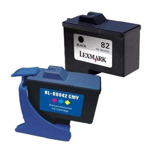 2 Pack Lexmark 82/83 (18L0860) Remanufactured Inkjet/Ink Cartridges Combo (One each: Black 18L0032, Color 18L0042) by GENERIC. $15.71. Replenishing your color Lexmark printer's ink cartridges can be expensive, leading many consumers to look for less expensive alternatives to 82 and 83 cartridges. The 82 and 83 multi-pack combo can be a great way to get the cartridges you need without spending a fortune. By buying our 82 and 83 as a set, you'll also be sure to have each color on...