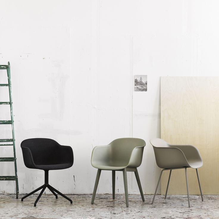 Muuto Fiber Chair Wood, Tube and Swivel